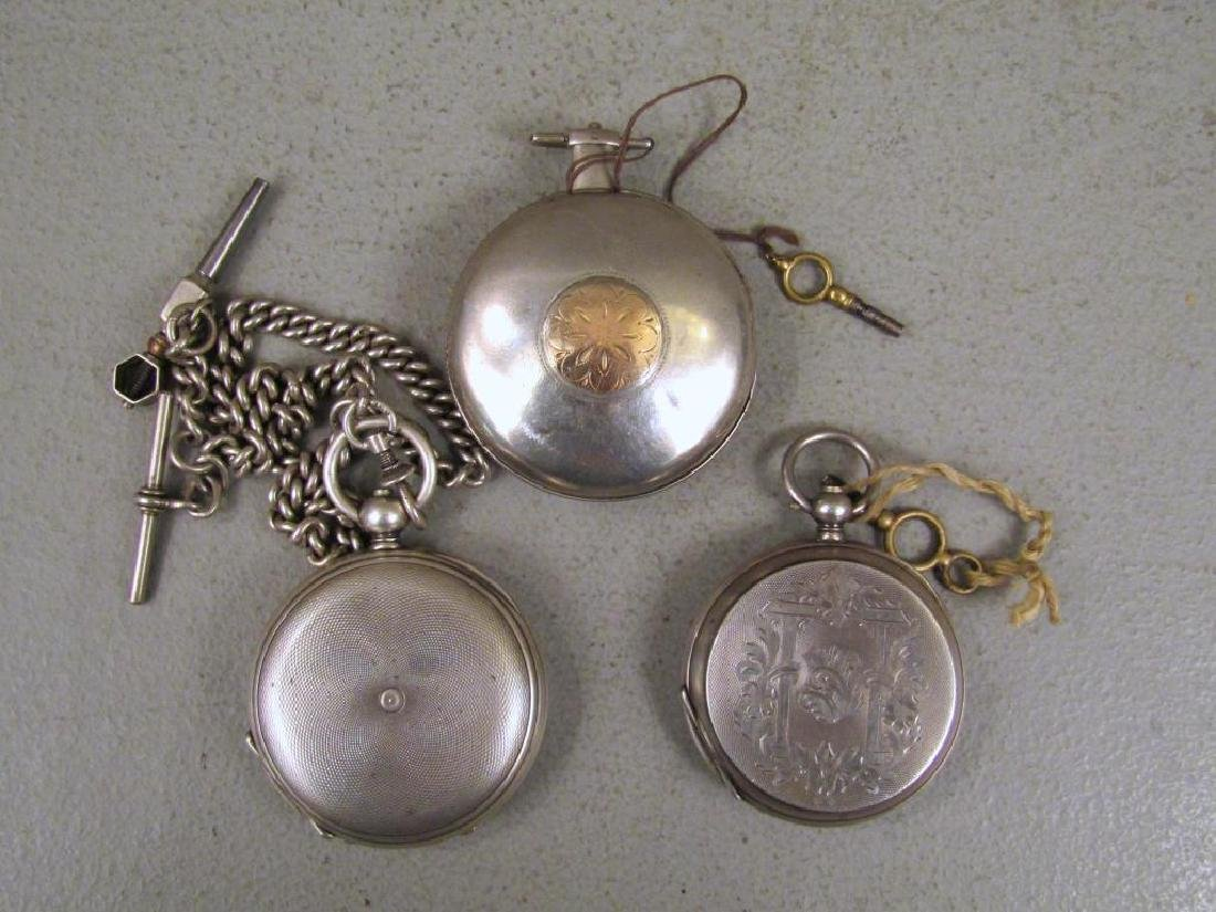 3 Continental Pocket Watches - 11