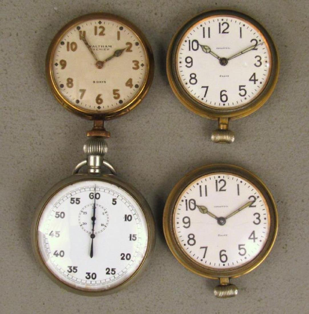 4 Large American Pocket Watches