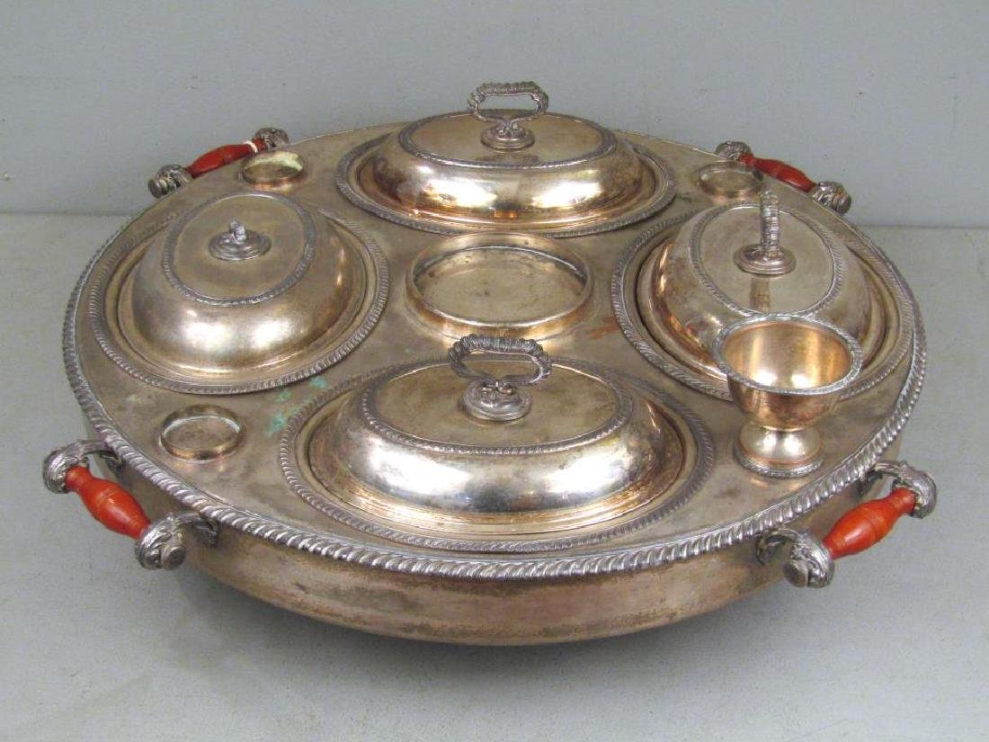 Large Silver Plated Lazy Susan