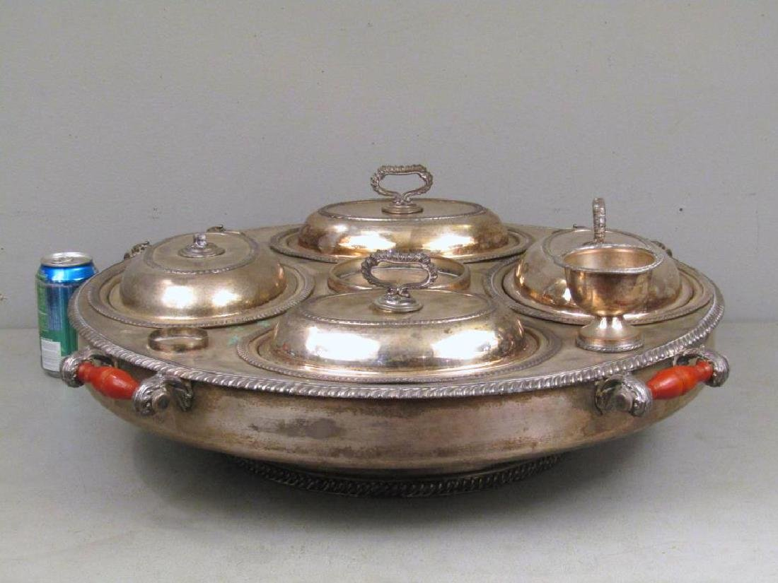 Large Silver Plated Lazy Susan - 2