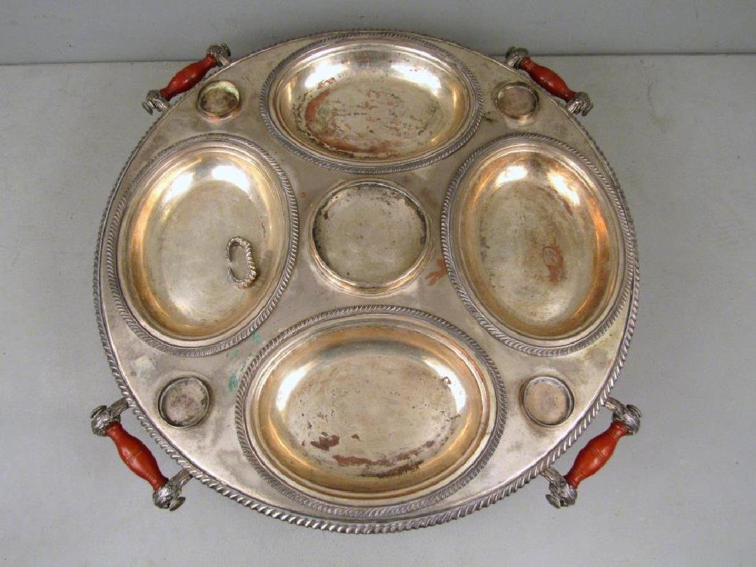 Large Silver Plated Lazy Susan - 3