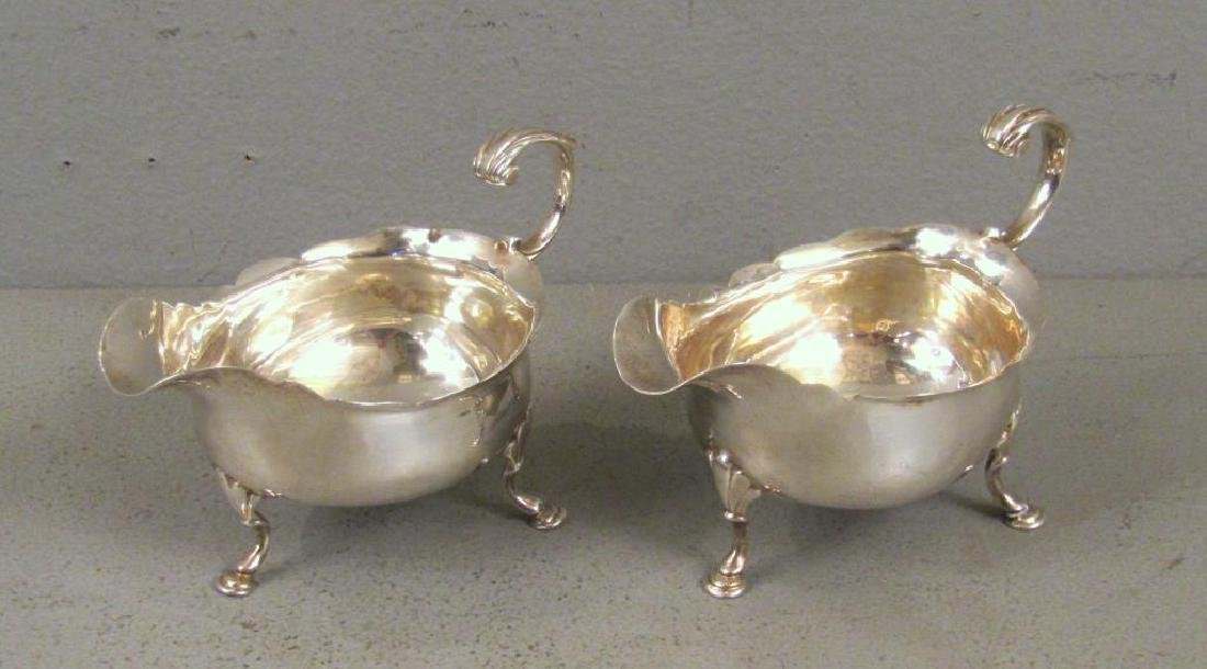 Pair Antique English Silver Sauceboats