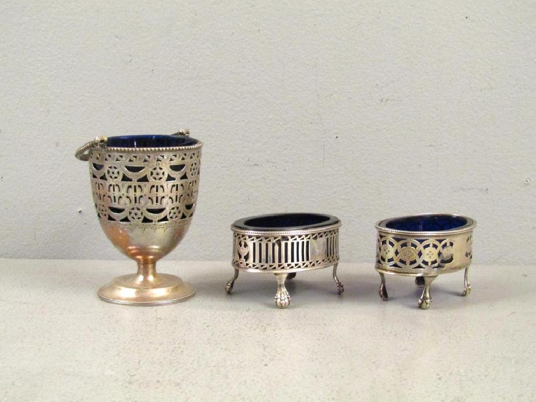 3 Antique English Silver Articles