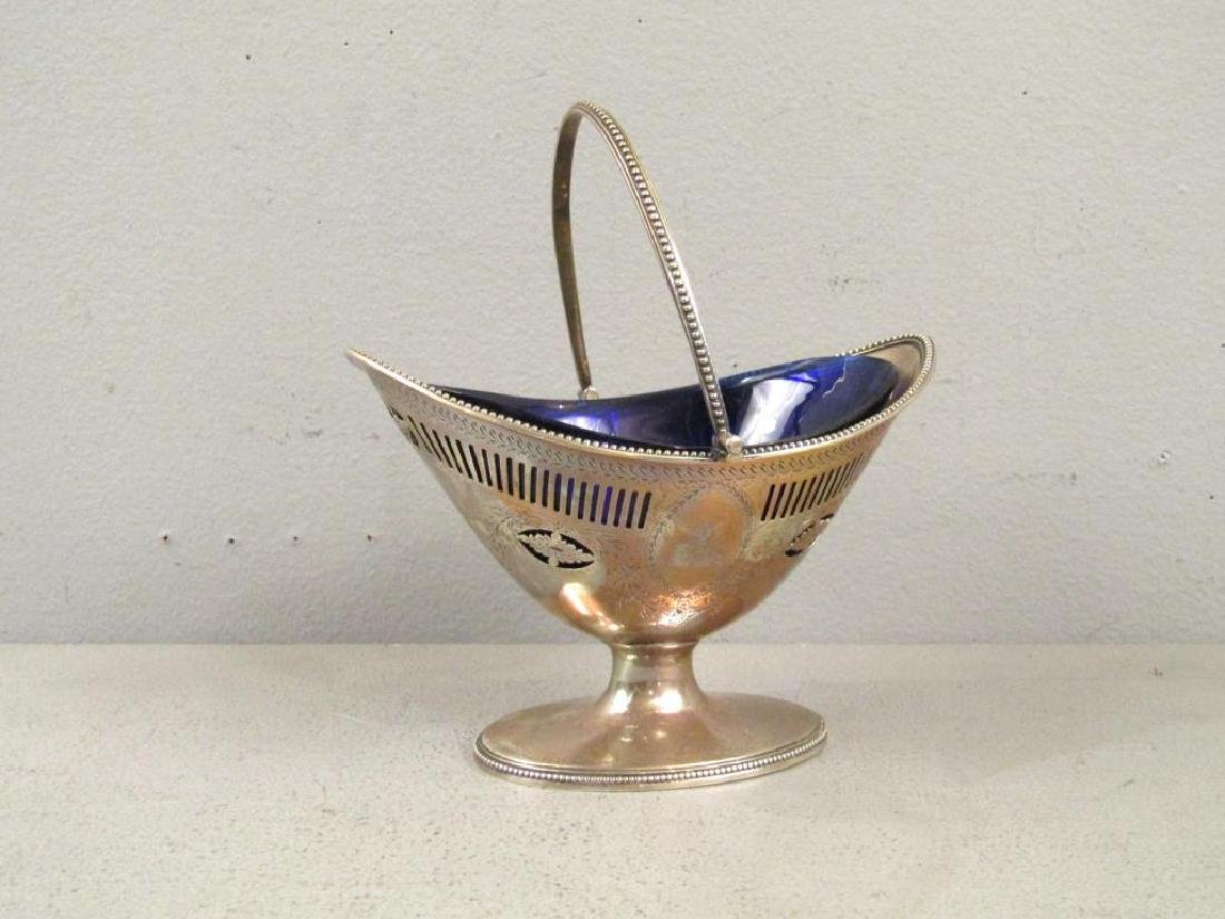 Antique English Silver Handled Basket