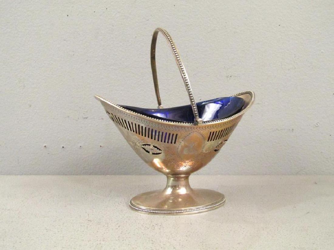Antique English Silver Handled Basket