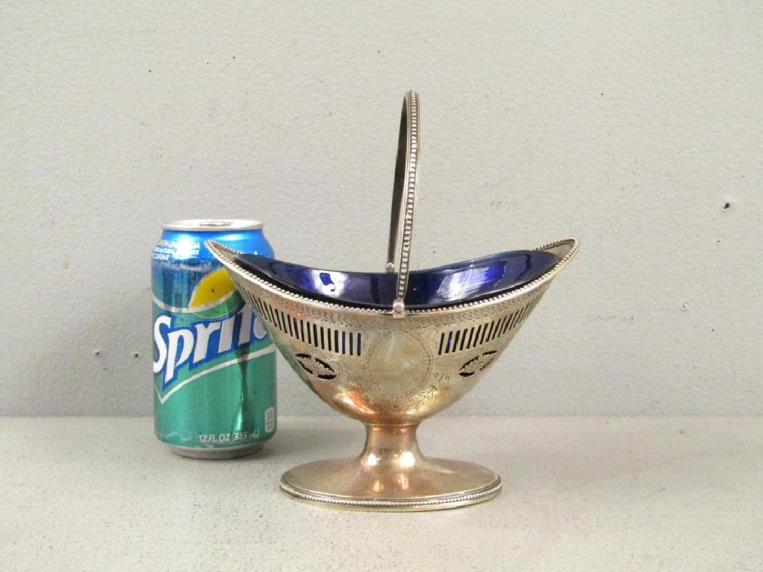 Antique English Silver Handled Basket - 2