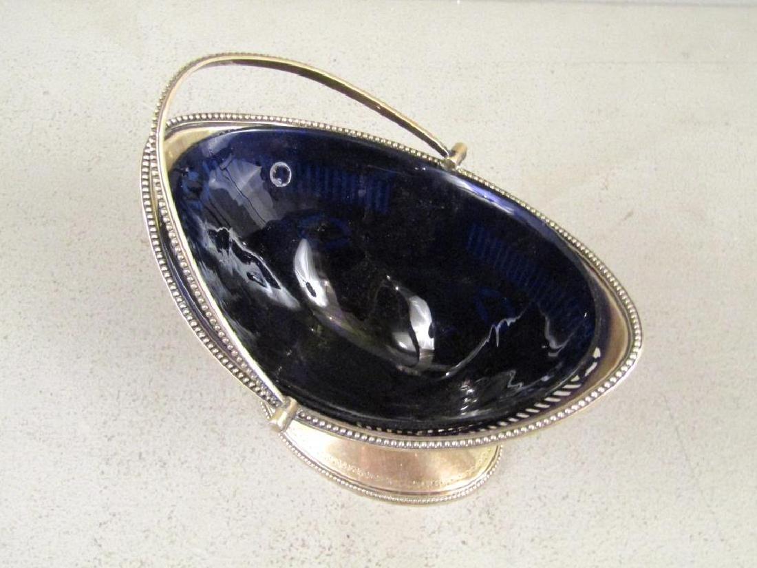 Antique English Silver Handled Basket - 3