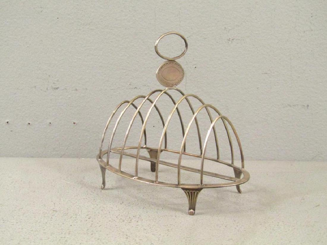 Antique English Silver Toast Rack