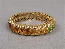 18K Gold & Natural Stone Bracelet