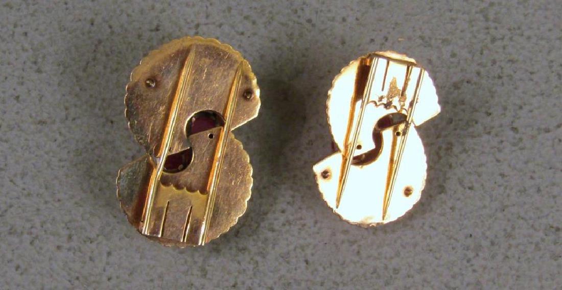 Pair 14K Gold & Pink Tourmaline Clips - 3