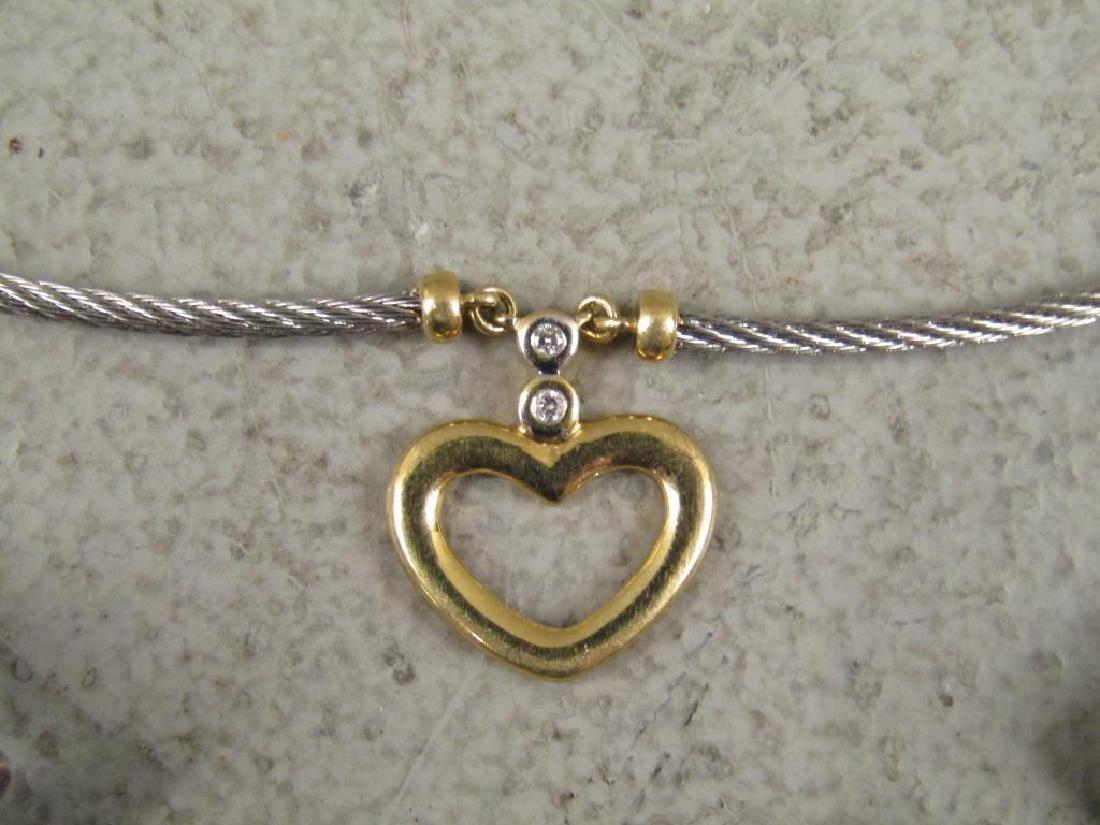 2 Sterling, Gold & Steel Designer Necklaces - 6