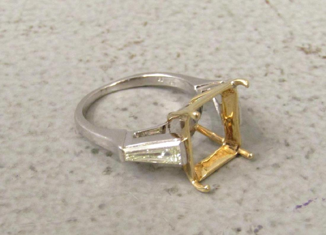 Platinum, Diamond and Yellow Gold Ring Mount