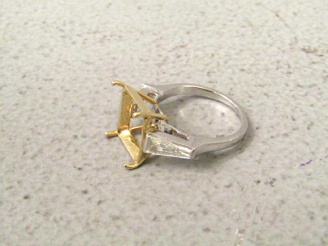 Platinum, Diamond and Yellow Gold Ring Mount - 2