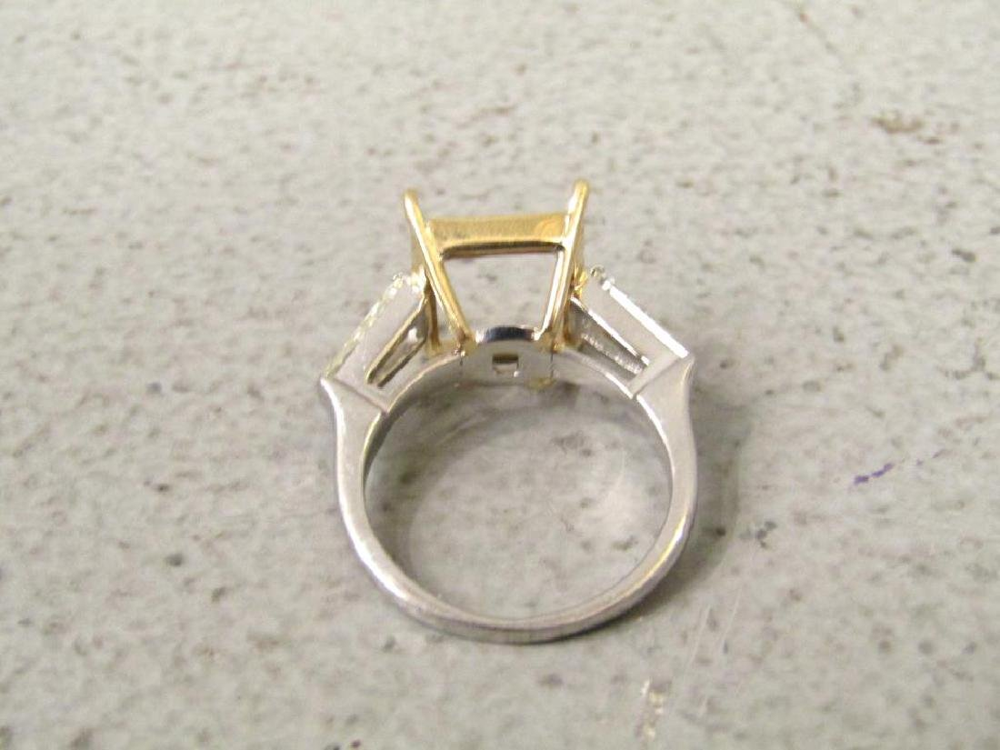 Platinum, Diamond and Yellow Gold Ring Mount - 3