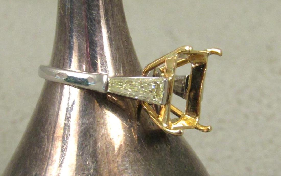 Platinum, Diamond and Yellow Gold Ring Mount - 4