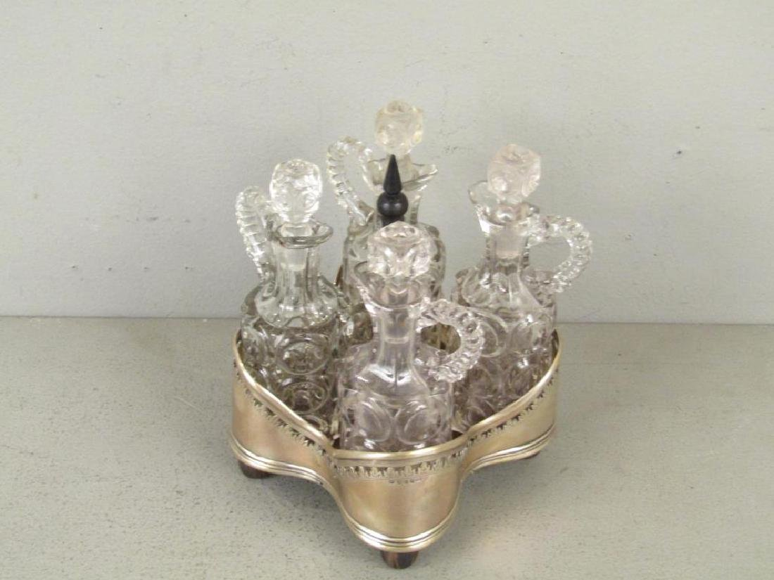 Antique English Silver Cruet Stand