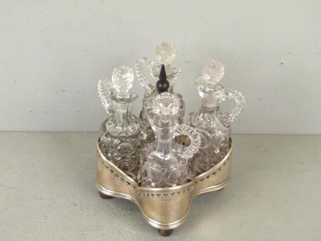 Antique English Silver Cruet Stand