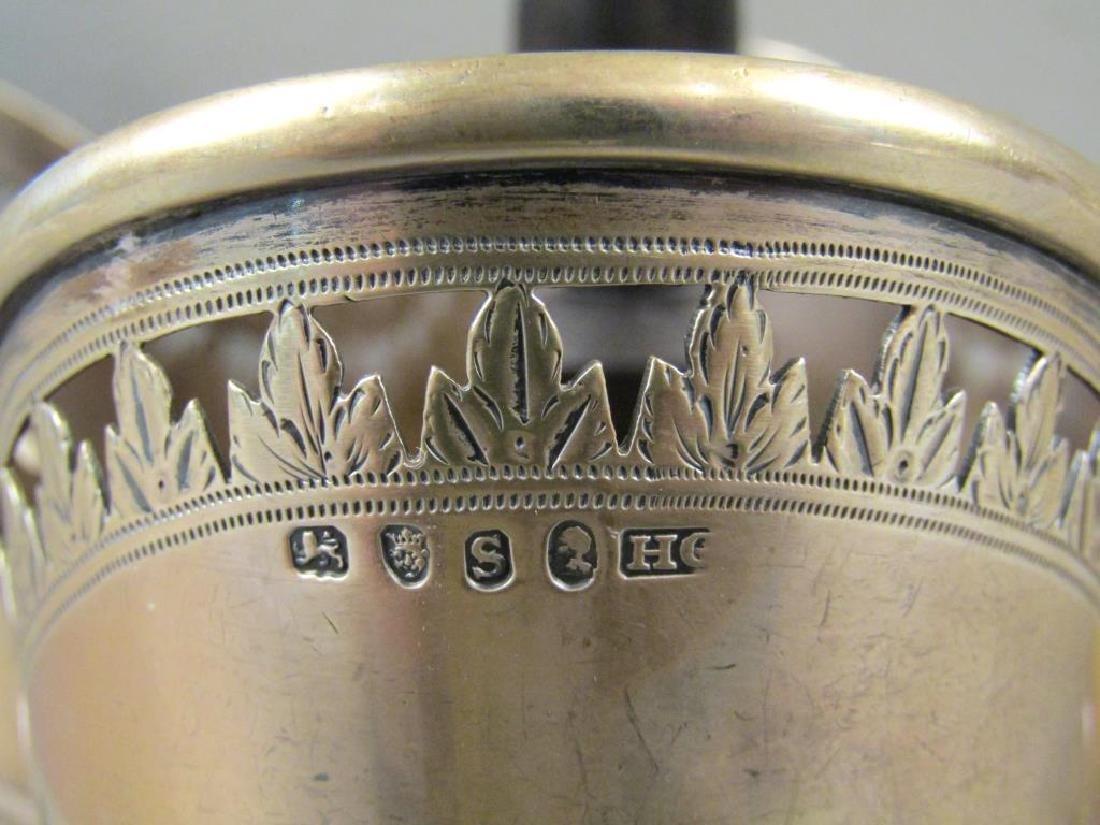Antique English Silver Cruet Stand - 4