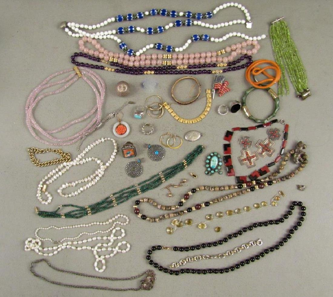 Large Lot Gold, Silver and Costume Jewelry