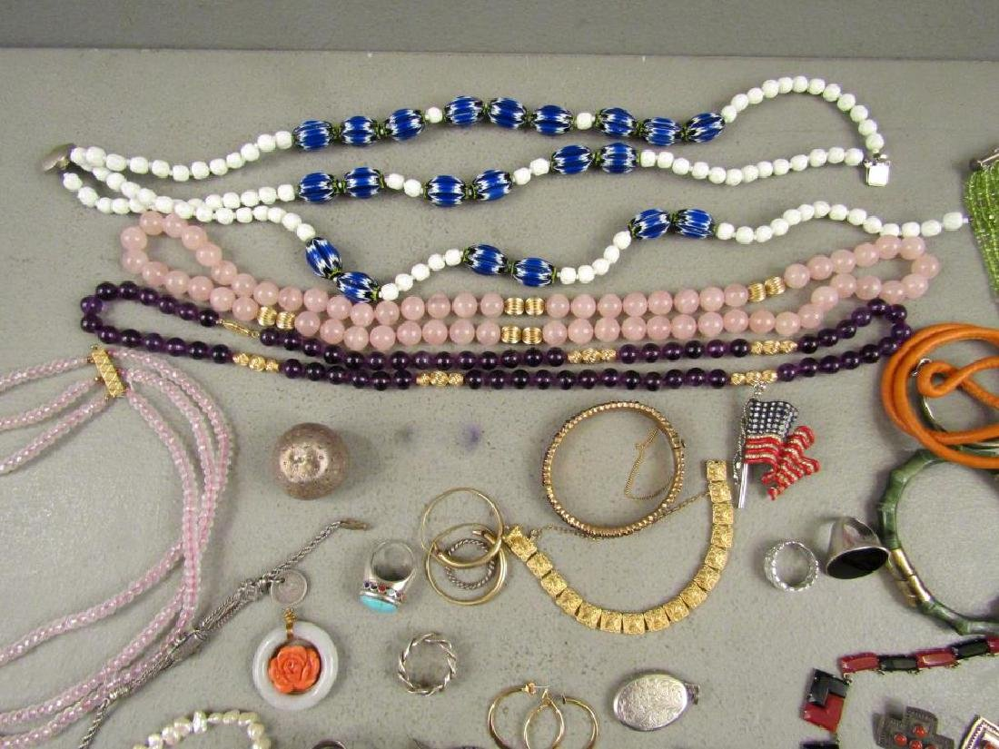 Large Lot Gold, Silver and Costume Jewelry - 2