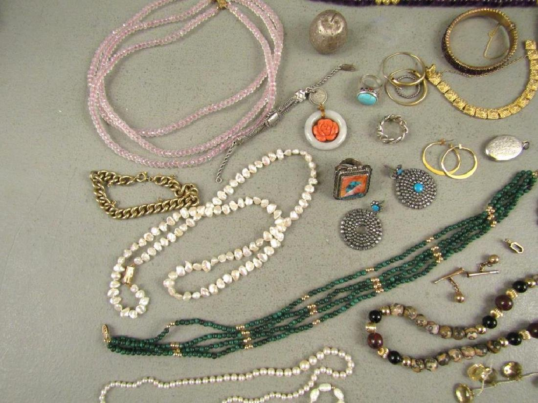 Large Lot Gold, Silver and Costume Jewelry - 3