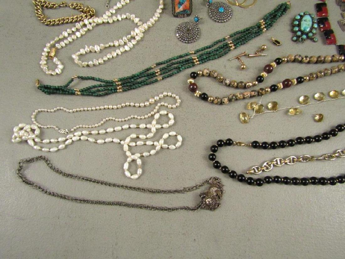 Large Lot Gold, Silver and Costume Jewelry - 4
