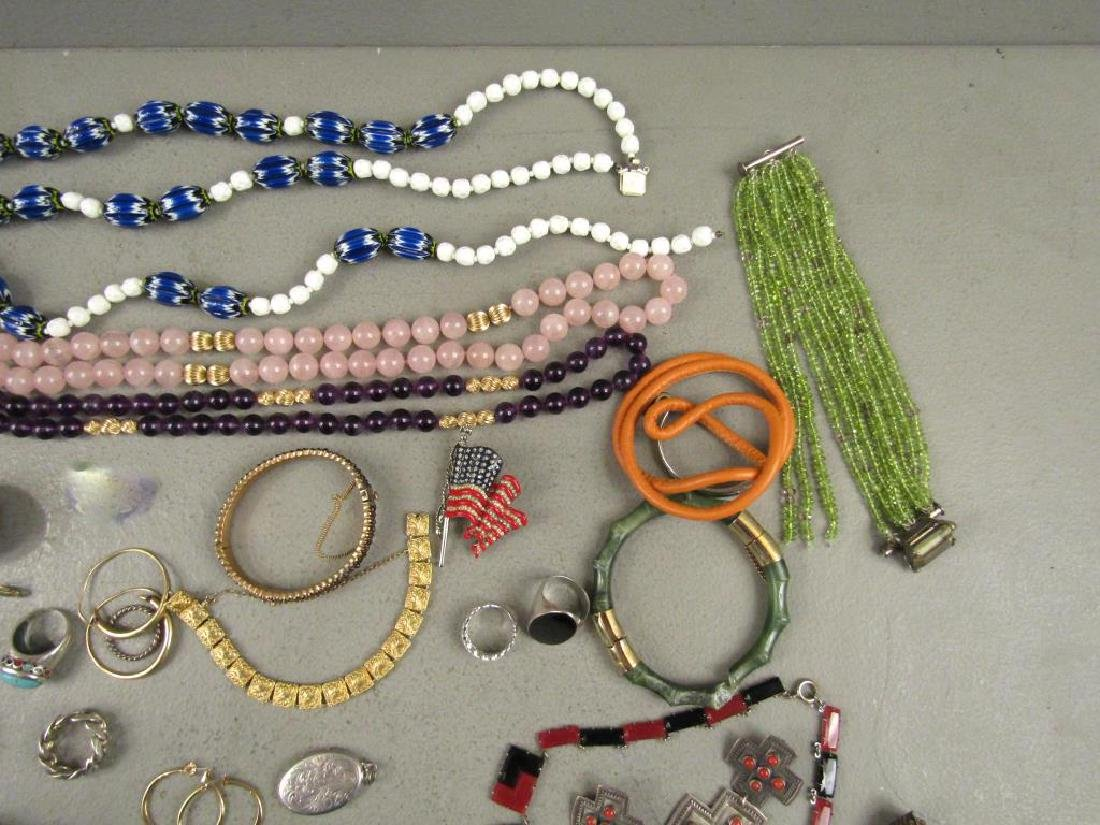 Large Lot Gold, Silver and Costume Jewelry - 7