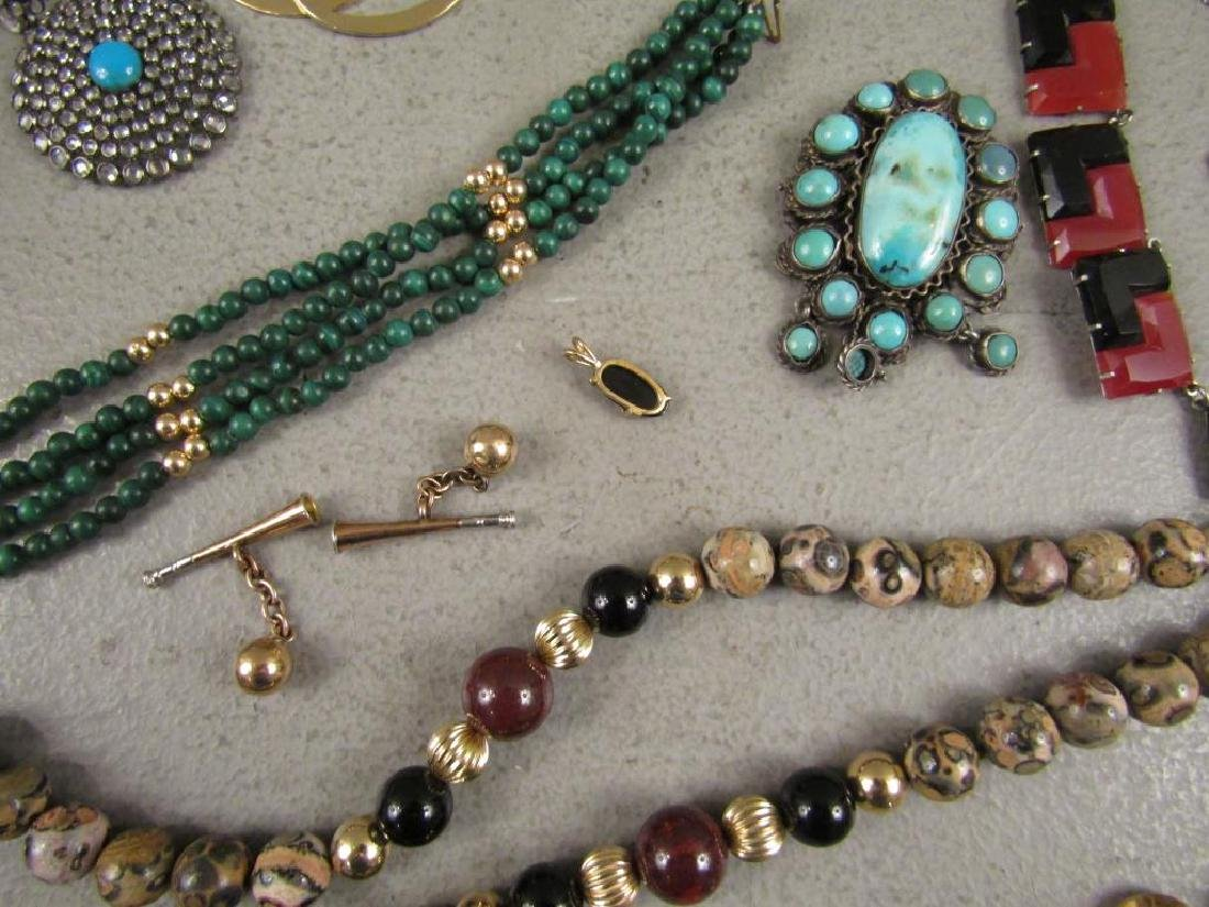 Large Lot Gold, Silver and Costume Jewelry - 9