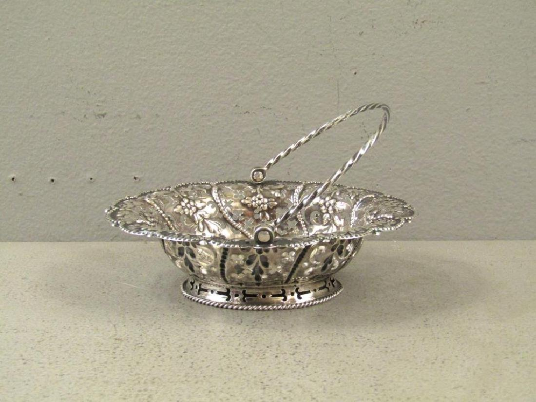 Antique English Silver Small Basket
