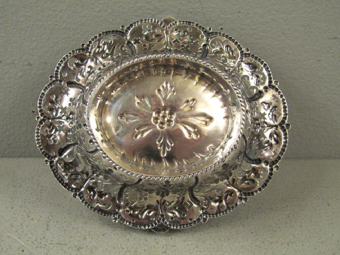 Antique English Silver Small Basket - 3