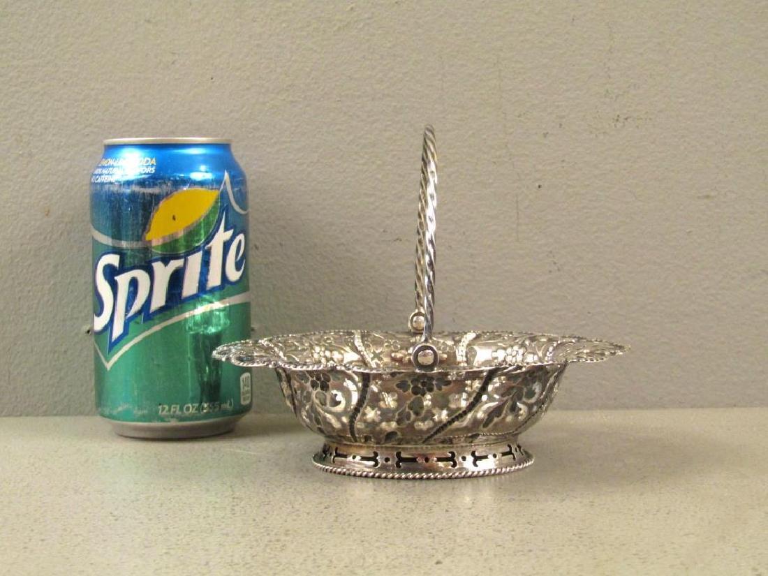 Antique English Silver Small Basket - 4