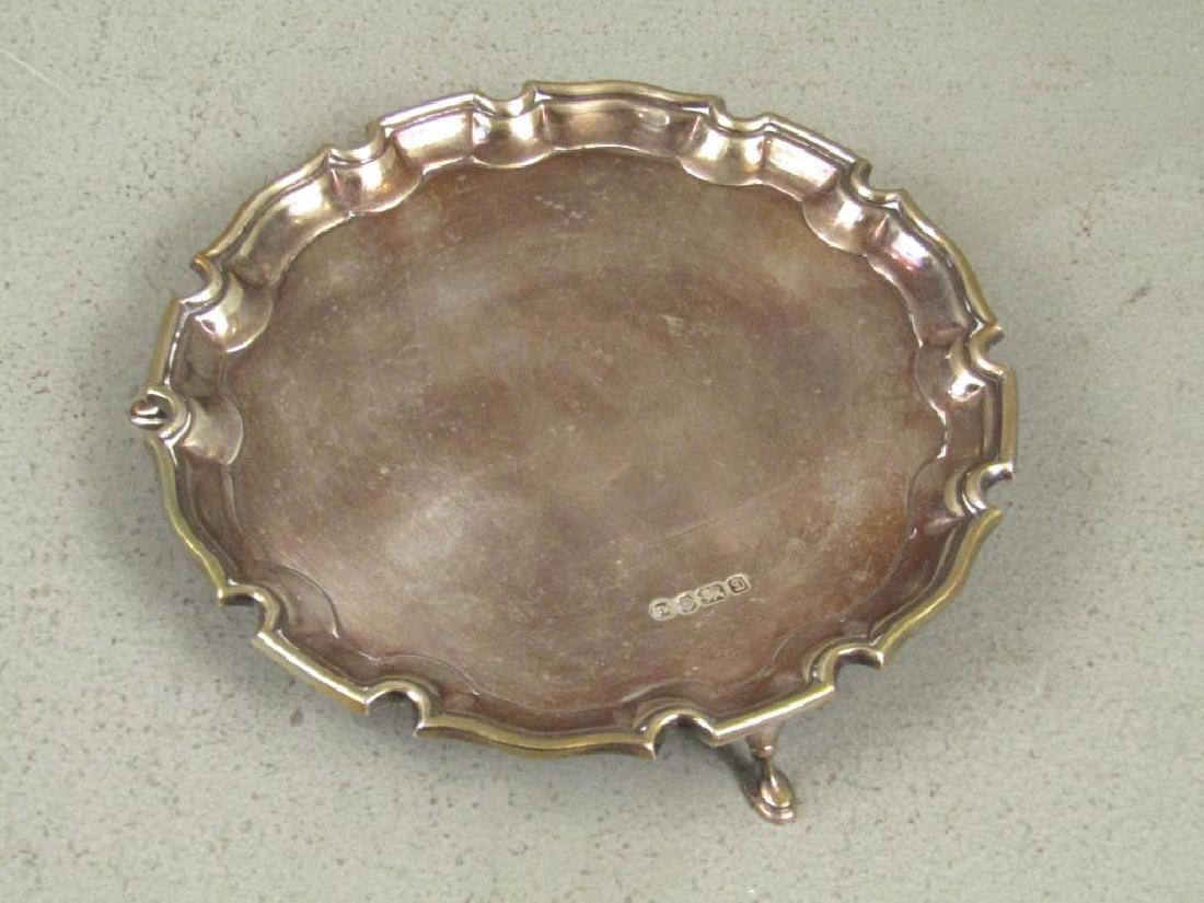 Small English Silver Salver