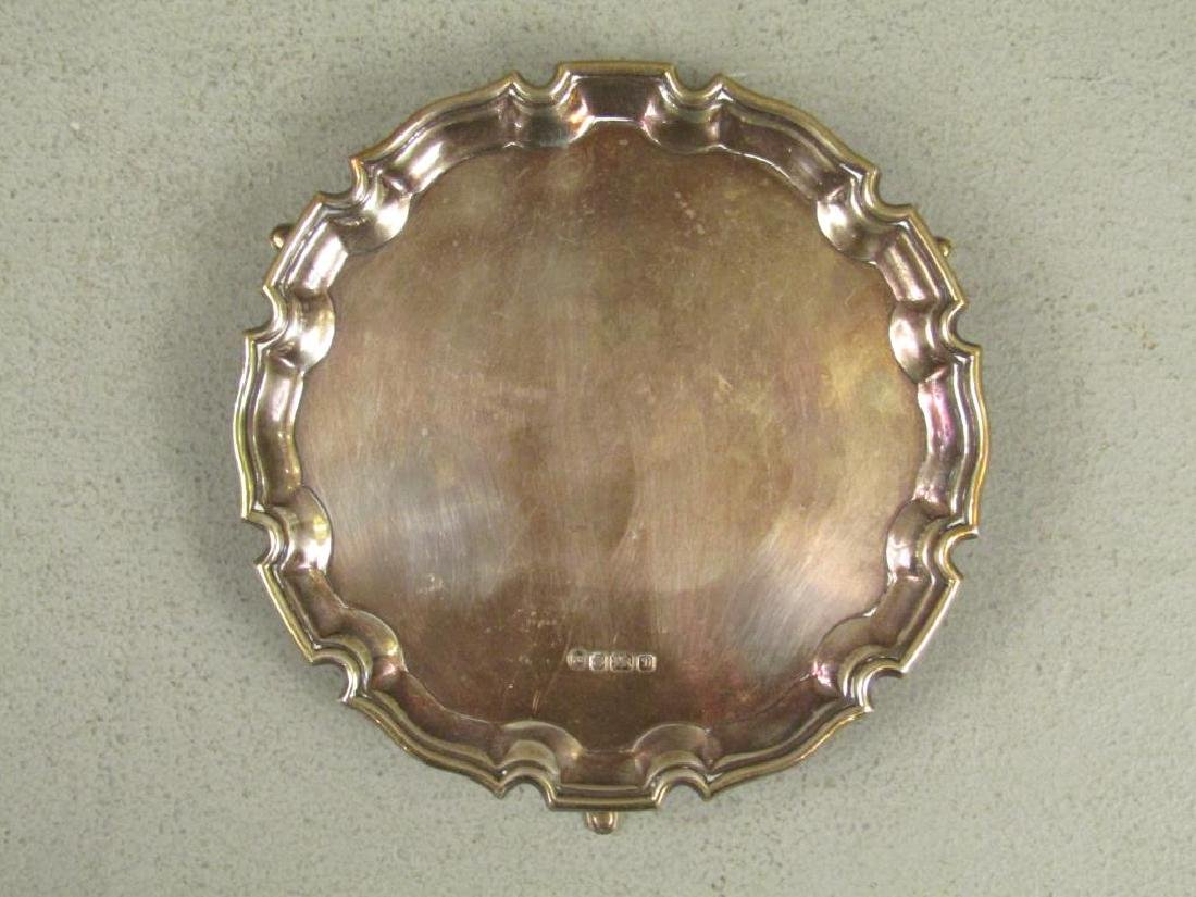 Small English Silver Salver - 2