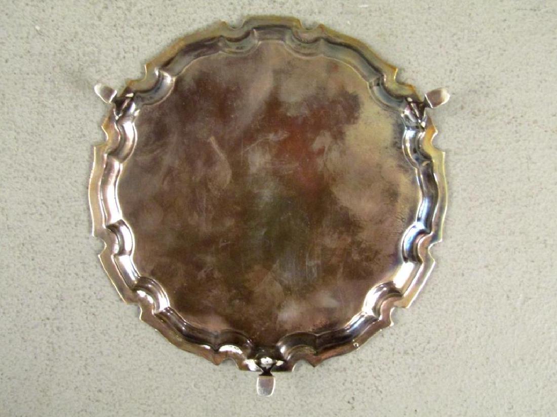 Small English Silver Salver - 4