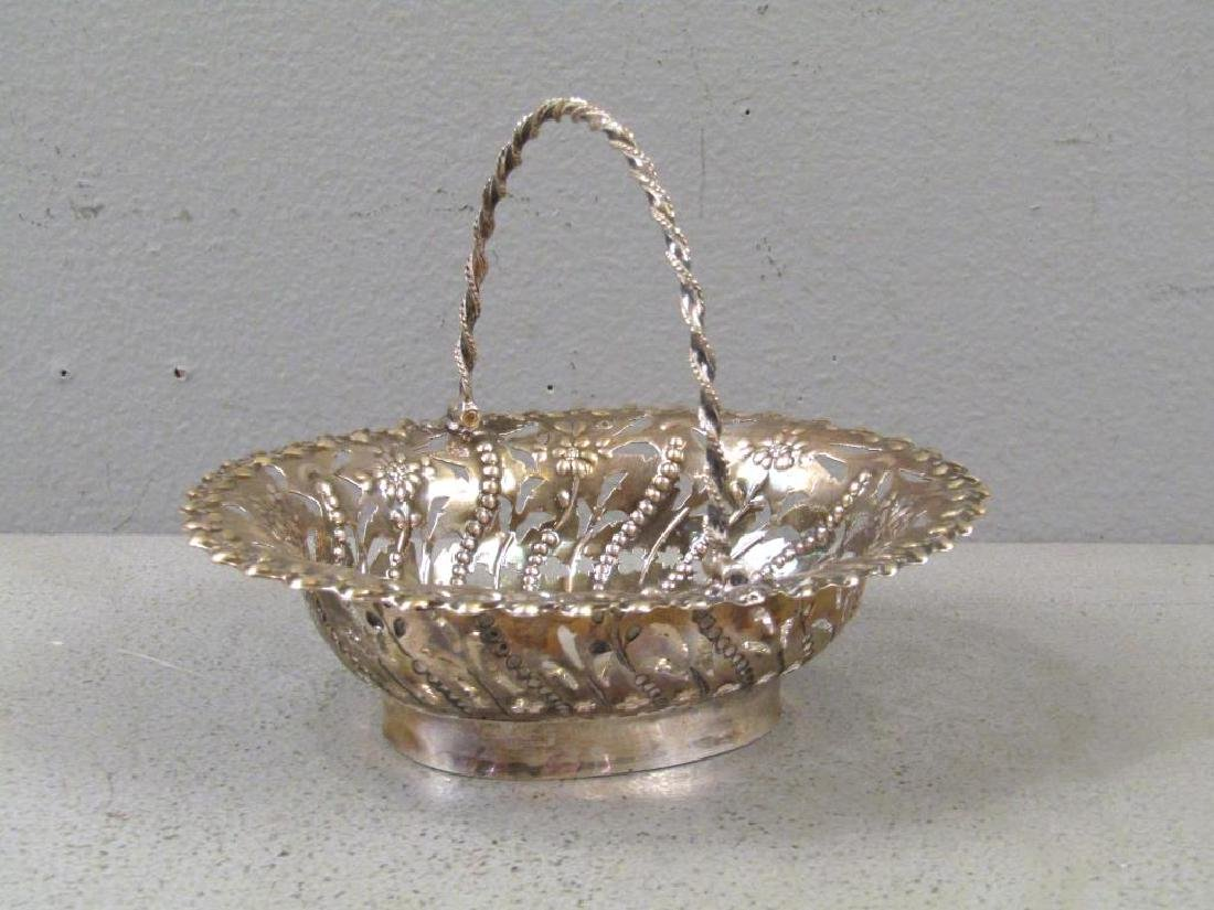 Antique English Silver Small Basket