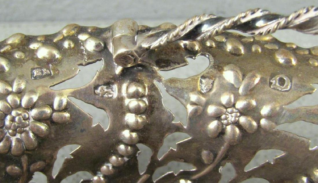 Antique English Silver Small Basket - 3