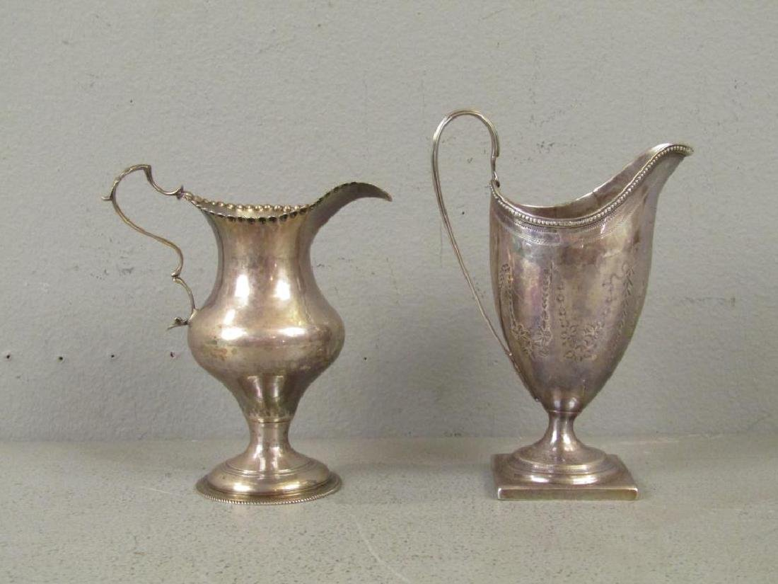 Two Antique English Silver Small Urns