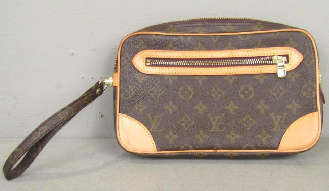Louis Vuitton 2 Tone Leather Clutch