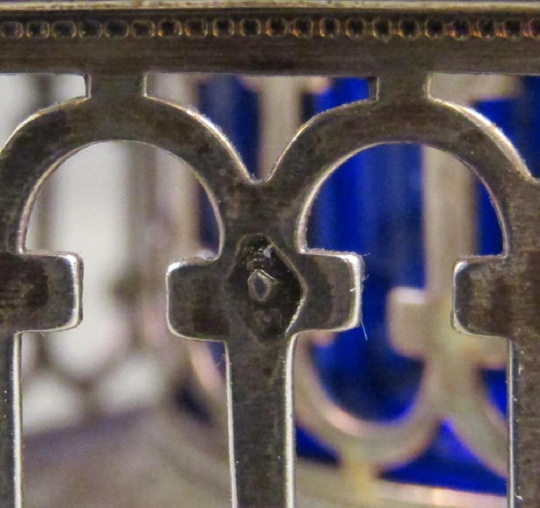 Antique Continental Silver Cruet Stand - 5
