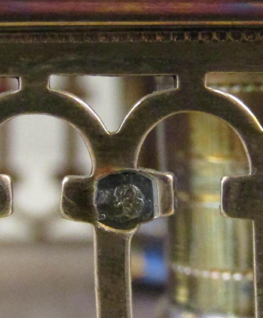 Antique Continental Silver Cruet Stand - 6