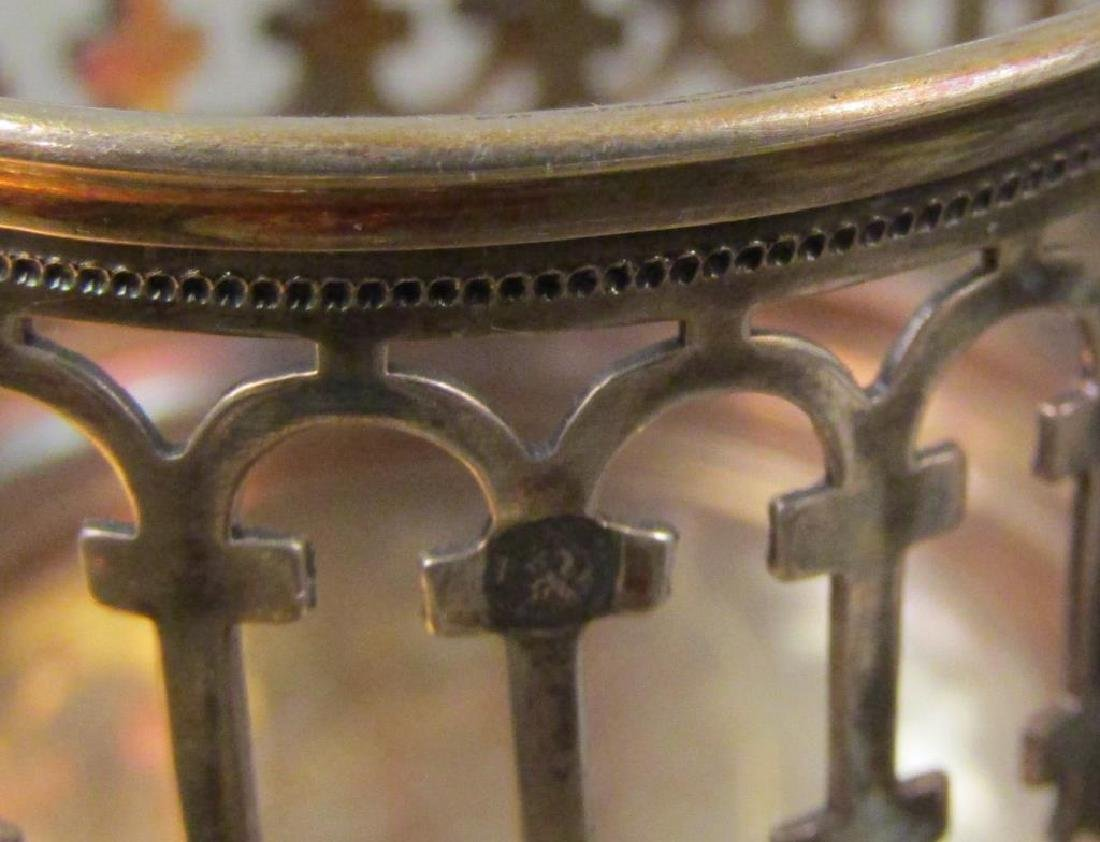 Antique Continental Silver Cruet Stand - 7