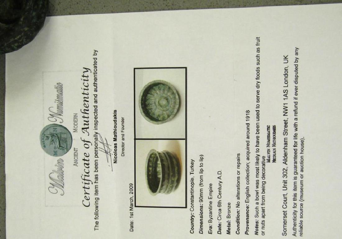 Byzantine Empire Small Bronze Bowl - 7