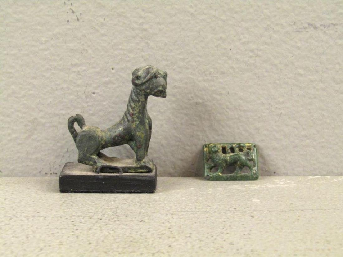 2 Bronze Lion Antiquities