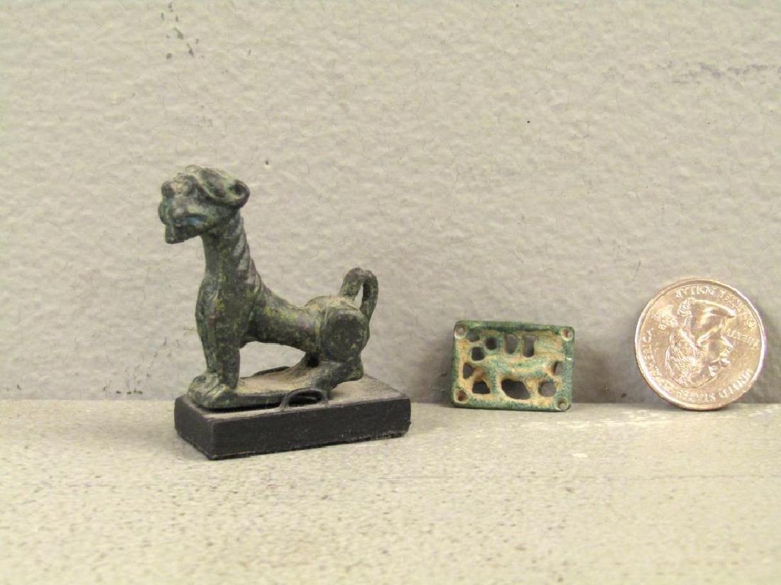 2 Bronze Lion Antiquities - 2