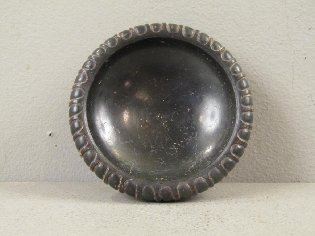 Greek Campanian Black Glazed Terra Cotta Bowl