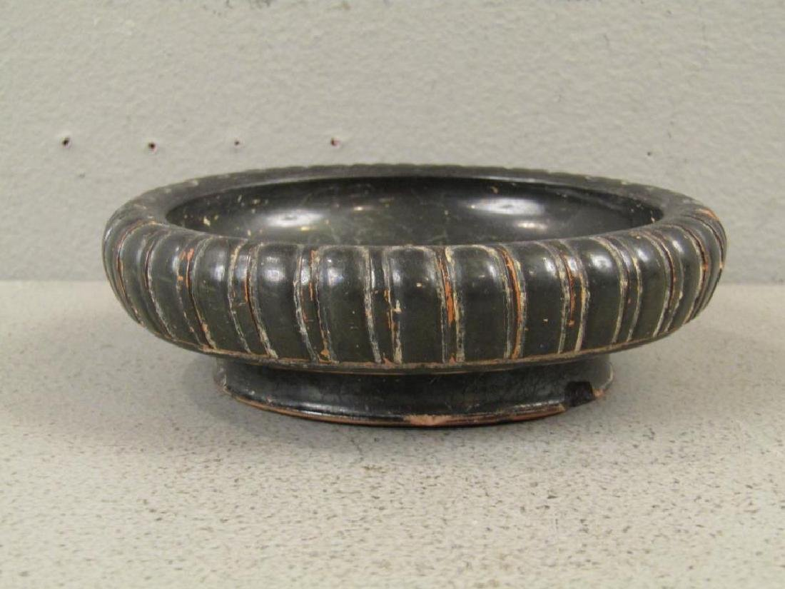 Greek Campanian Black Glazed Terra Cotta Bowl - 3