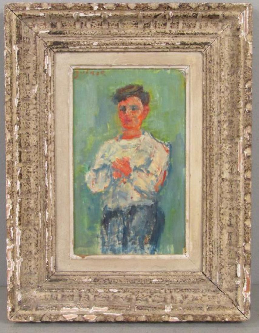 Jacques Zucker (Polish 1900-1981) - Oil on Board - 2
