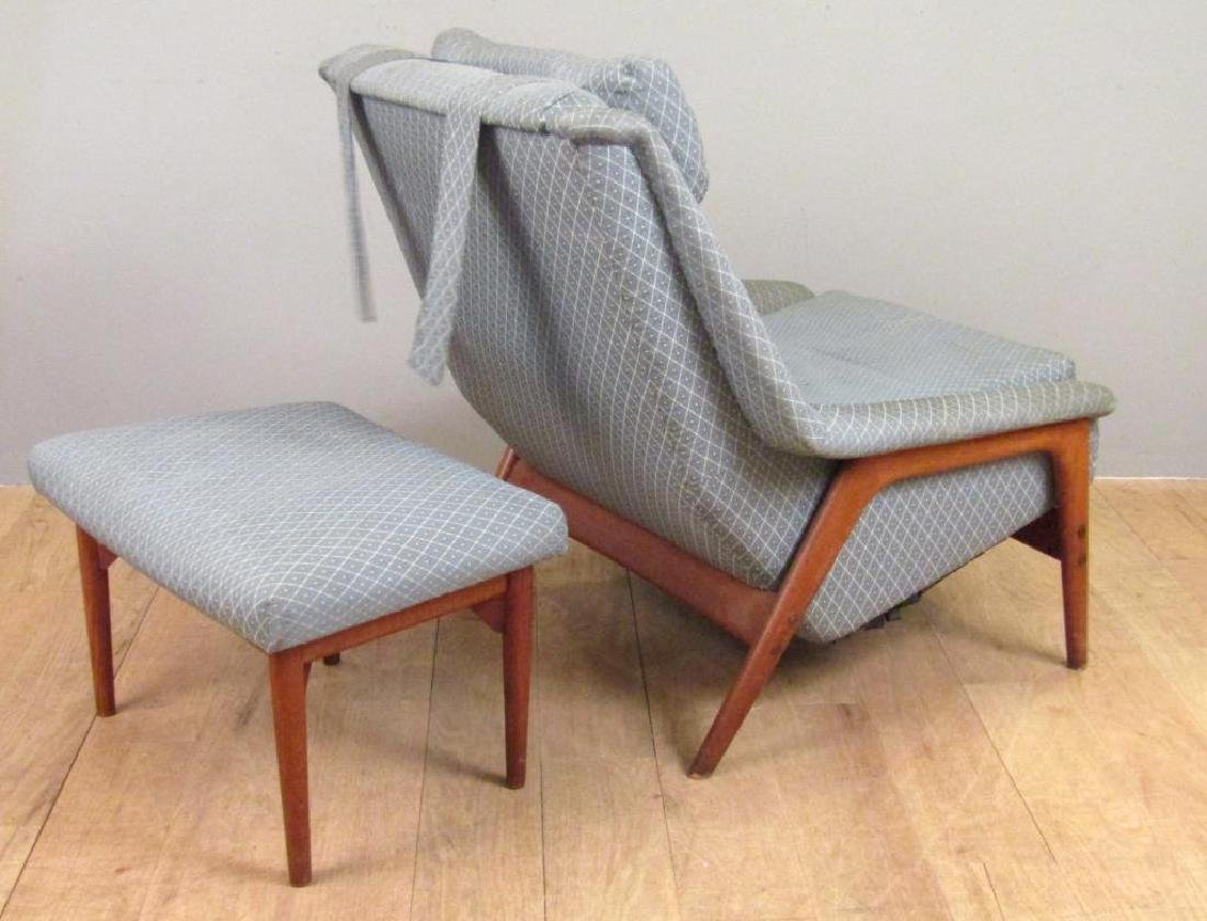 Mid Century Armchair and Ottoman - 2
