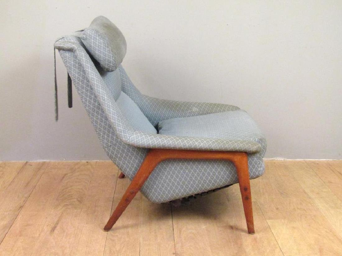 Mid Century Armchair and Ottoman - 4