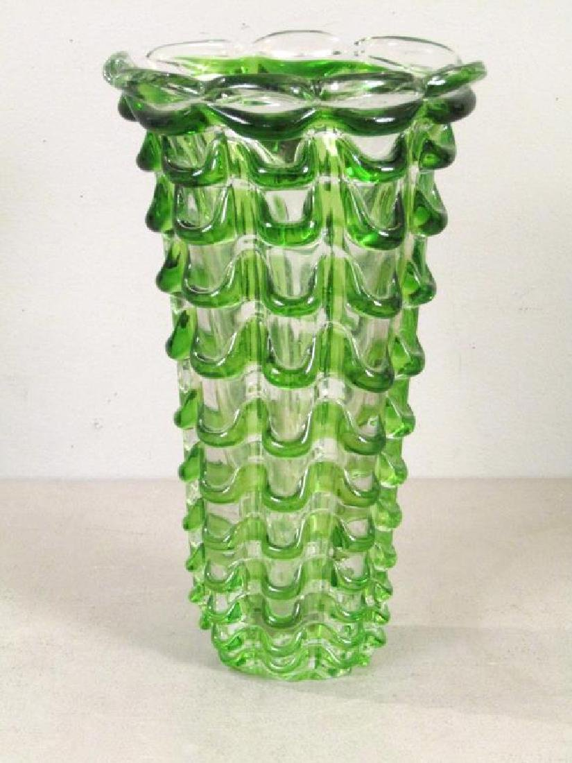 Heavy Murano Glass Vase (as is)